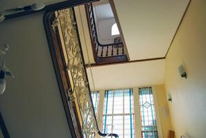 Treppenhaus Blick-nach-oben